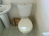 toilet repair - completed and fully working, boxes show genuine parts used